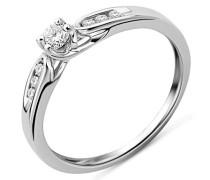 Damen-Ring Solitaire Gold 9 Karat) Diamant 0,2 Karat, Größe 52, MF9079R2