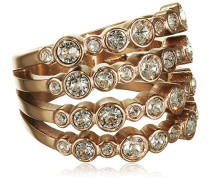 Damen-Ring rotgold Kristall transparent
