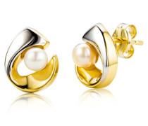Ohrstecker 9 Karat 375 Bicolor Perlen MA952E