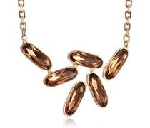 Damen-Collier Bahamas Vergoldet teilvergoldet Kristall orange 38.0 cm - BBAKOC02