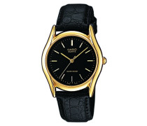 Herren Analog Quarz mit Leder Armbanduhr MTP 1154PQ 1A