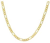 Herren-Halskette 9 Karat 375 Gold 9 Karat 375 Gelbgold Glas UFF180 24