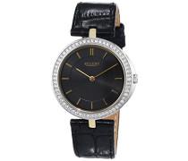 Damen-Armbanduhr XS Analog Quarz Leder 12090291