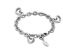 Damen-Armband Edelstahl Glas transparent 20.5 cm - LS1707-2/1