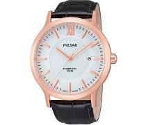 Herren-Armbanduhr Analog Quarz Leder PAR184X1