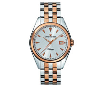 Herren-Armbanduhr HERITAGE Analog Automatik Edelstahl beschichtet 21010.2152