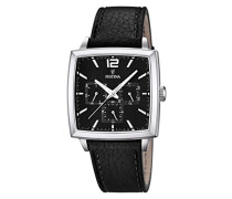 Herren-Armbanduhr XL Analog Quarz Leder F16784/4