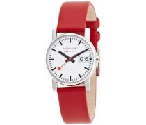 Mondaine Damen-Armbanduhr SBB Evo Big Date 30mm Analog Quarz A669.30305.11SBC