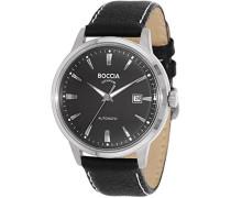 Boccia Herren-Armbanduhr Analog Automatik Leder 3586-02