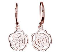 Damen Ohrhänger 925 Sterling Silber rose vergoldet 0301732715