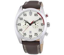 Ferrari Herren-Armbanduhr XL D50 Chrono Analog Quarz Leder 830174