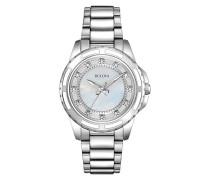 Diamond 96S144 - Damen Designer-Armbanduhr - Armband aus Edelstahl