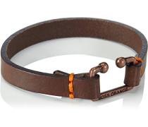 Herren Armband Leder, Braun, One Size
