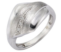 Damen-Ring 925 Sterling Silber 5x Diamanten 0.05 ct.
