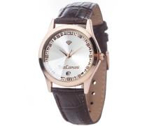 DETOMASO Damen-Armbanduhr Twinkle Analog Quarz 302-GRG