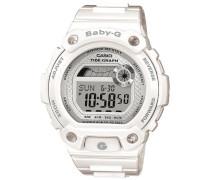 Baby-G – Damen-Armbanduhr mit Digital-Display und Resin-Armband – BLX-100-7ER