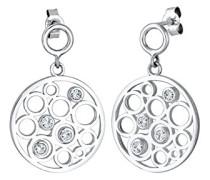 Damen-Ohrhänger Kreis 925 Silber Swarovski Kristalle - 0302142717