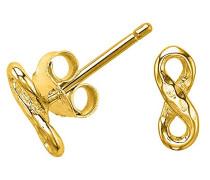 verschlungene Gelbgold 18ct vergoldet auf Silber Infinity Ohrstecker