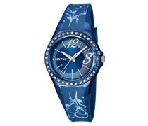 Damen-Armbanduhr Analog Plastik Blau K5624/G