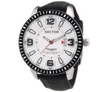 Sector Herren-Armbanduhr Analog Quarz Leder R3251119006