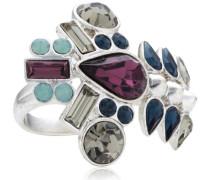 Jewelry Damen-Ring Messing  Damen-Ring aus der Serie Anniversary versilbert,blau  3.0 cm 191336204