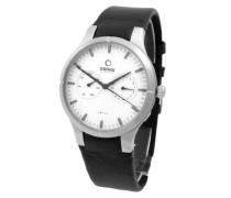 Obaku Herren-Armbanduhr Analog Quarz Leder V100GCIRB-S