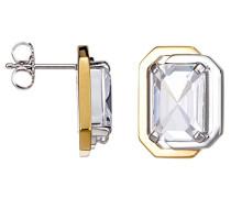 Damen-Ohrstecker 925 Sterling Silber rhodiniert Glas Zirkonia Néoclassicisme weiß S.PCER90247C000