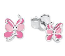 Kinder-Ohrstecker Mädchen Schmetterling Tier emailliert 925 Sterling Silber rhodiniert Emaille - 2018037