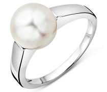 Miore Damen-Ring 9 Karat 375 WeißgoldSüßwasser Zuchtperle 8.5mm große 58(18.5) USP041RWR
