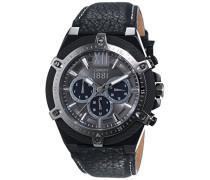 Herren-Armbanduhr SANTIAGO Analog Quarz Leder CRA036SBU13BK