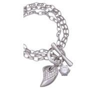 Damen-Armband Multichain 19 CM 925 Sterlingsilber mit Zirkonia ZA-1903