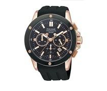 Pulsar Uhren Herren-Armbanduhr XL Sport Chronograph Quarz Kautschuk PT3128X1