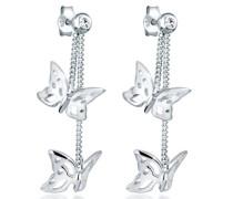 Damen Ohrringe Schmetterling 925 Sterling Silber Swarovski Kristallen 0304712412