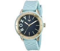 Roxy Damen-Armbanduhr The Del Mar Analog Silikon Blau RX/1013DBGP