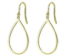 Damen-Ohrringe 9 Karat Gelbgold Diamant 0,02 Karat
