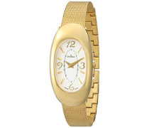4416.1112 Women'schweizer Uhr Armband Armbanduhr Analog Edelstahl Gold vergoldet