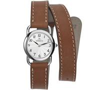 17467/28GOLDamen Armbanduhr, Leder, Farbe: Braun