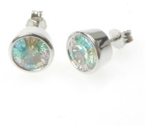 Damen-Ohrstecker 925 Sterlingsilber Multicolor Zirkonia CC-41/1