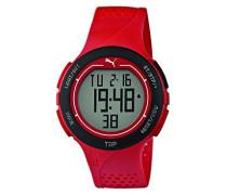 Herren-Armbanduhr PU-Touch- red black Digital Quarz Kautschuk PU911211002