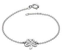 Armband Sterling-Silber 925 keltisches Kleeblatt 17,8-18,4 cm