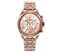 Damen-Armbanduhr Divine Chrono Rosegold Analog Quarz
