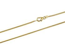 Unisex Schlangenkette 585 Gold 42 cm 1.3 mm