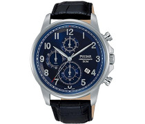 Herren-Armbanduhr Analog Quarz Leder PM3073X1