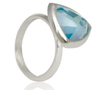 D for Diamond Damen-Ring Sterling-Silber 925 Blautopas 54 (17.2) KRW001B SZ7