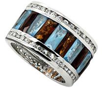 Damen-Ring 925 Sterling Silber Zirkonia mehrfarbig