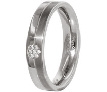 Unisex-Ring You and me Titan Diamant (0.035 ct) weiß