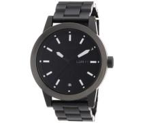 Nixon Unisex-Armbanduhr The Spur Black / Matte Gunmetal Analog Quarz Edelstahl beschichtet A2631062-00