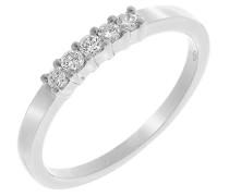 Damen-Ring 750 Gold 5 Diamanten 0.20 Carat