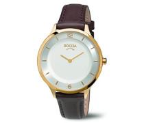 Boccia Damen-Armbanduhr Analog Quarz Leder 3249-04