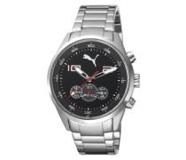 PUMA Motorsport Unisex-Armbanduhr Chronograph Quarz Edelstahl PU102451006